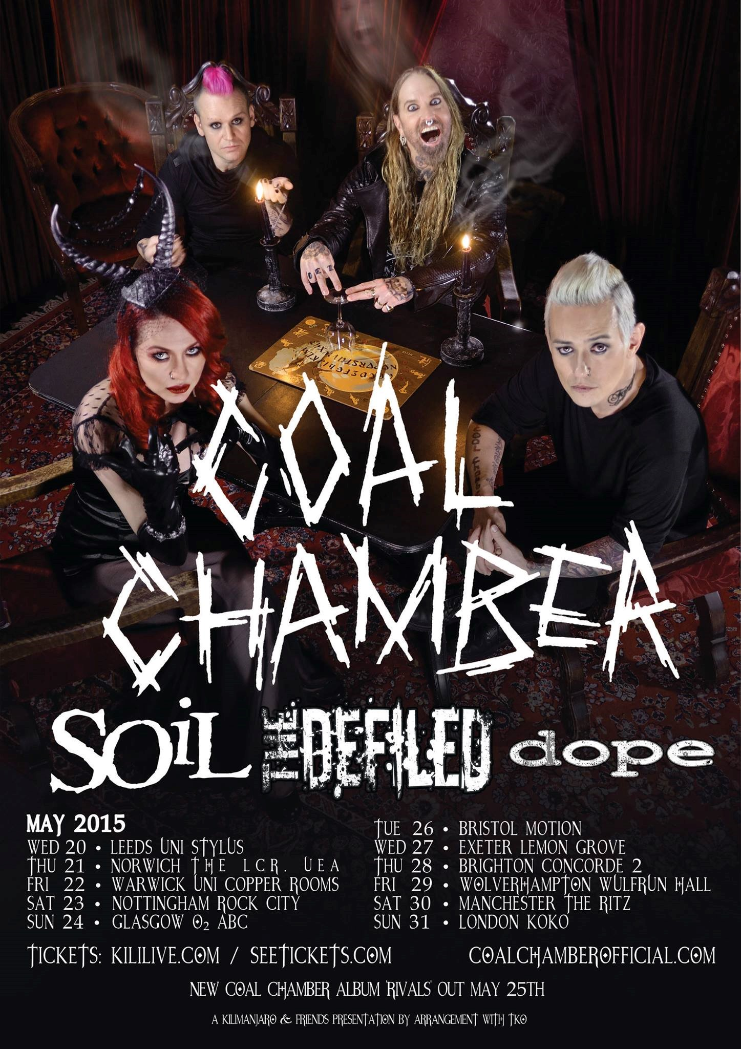 Soil and Coal Chamber on Tour 2015