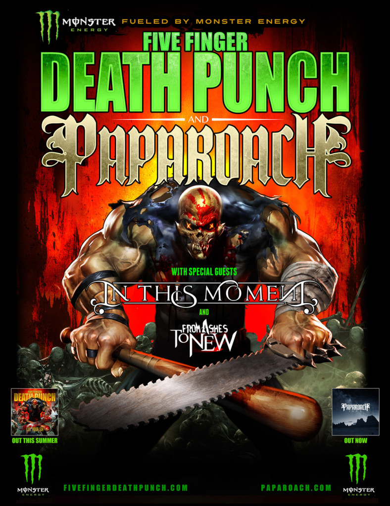 Five Finger Death Punch, Papa Roach and In This Moment 2015 Fall Tour Announced