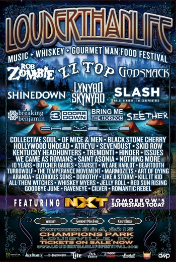 Louder Than Life Festival 2015 Lineup