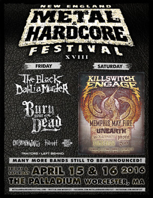 New England Metal and Hardcore Festival Band Line Up