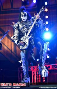Gene Simmons of KISS at BMO Harris Bank Center on August 20, 2016 (photo credit Rob Grabowski)
