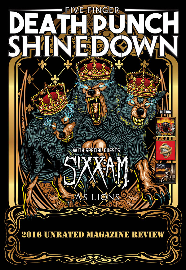 Five Finger Death Punch, Shinedown and Sixx A.M. Poster (2016)